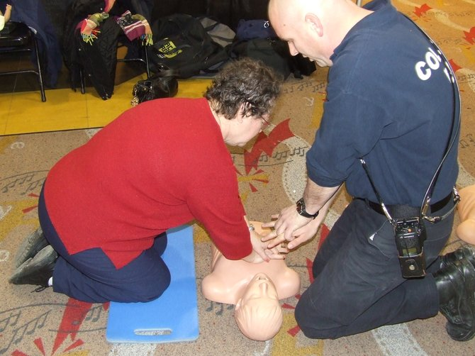 "In recognition of National Heart Month, the Colonie EMS Department is hosting four separate events at locations around the town for any community members to come and learn hands-only CPR. The free ""CPR Anytime"" training sessions will provide easy-to-learn lessons on how to perform CPR on adults, children and infants, as well as how to use an AED, or an automated external defibrillator."