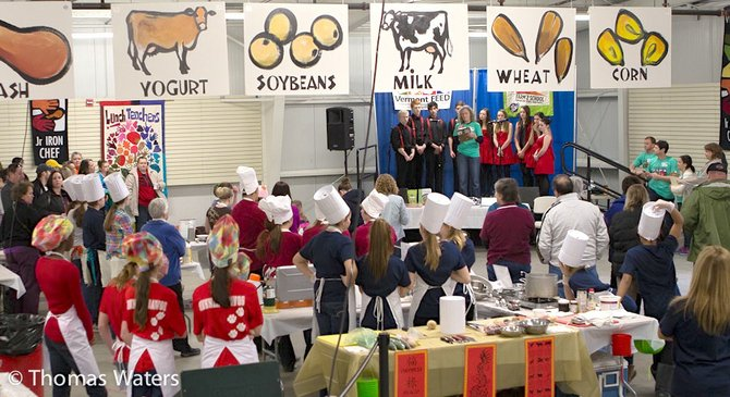 Teen chefs from 55 Vermont middle and high schools patriciated in the Junior Iron Chef Vermont event Feb. 2