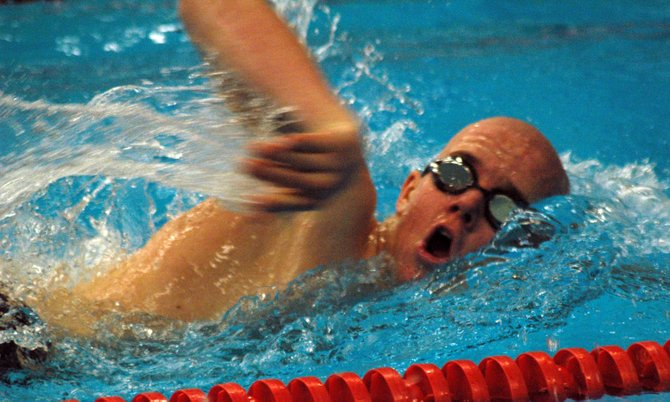 Gavin Friedrich won the 500 freestyle for AuSable Valley.
