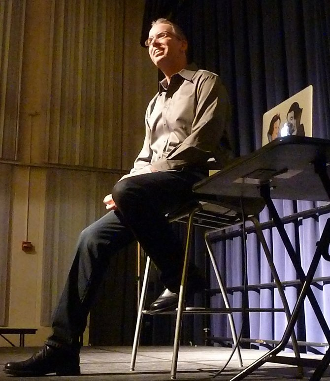 Frank Warren spoke about his PostSecret Project at a recent visit to the University at Albany as part of Sexuality Month.
