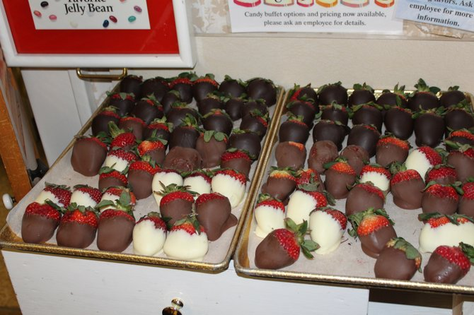 Chocolate covered strawberries are a big Valentine's Day seller at Uncle Sam's in Schenectady.