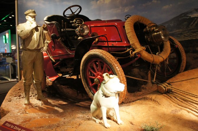 "The ""Vermont"", the Winton touring car which made the first transcontinental automobile trip in 1903 is exhibited—along with life-size figures of Jackson and Bud at the National Museum of American History in Washington, D.C. Fair-use photo by Mario Roberto Duran Ortiz."