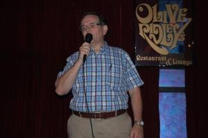 Ray Wayman, a comedian with Adirondack Comedy Club performs stand up. 