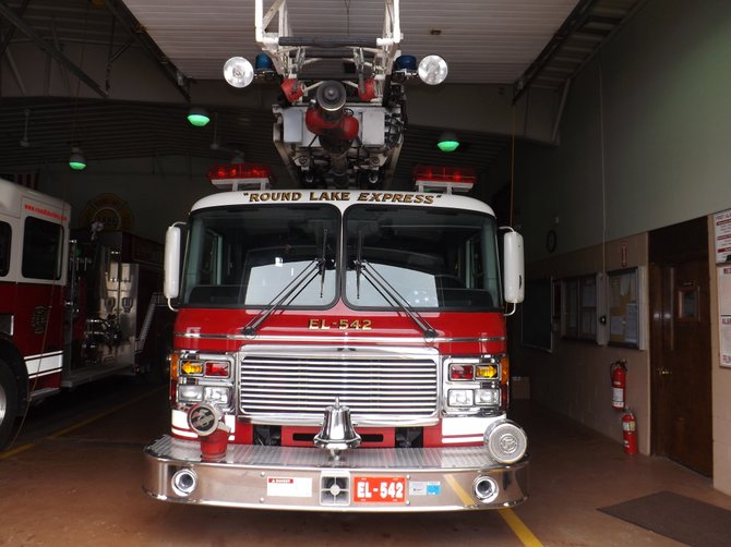 75-foot ladder truck at Round Lake Station
