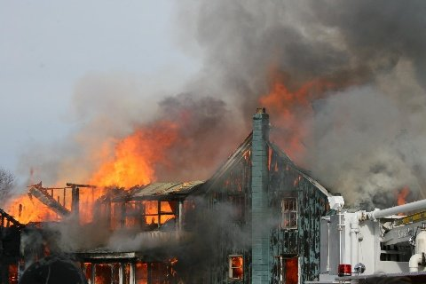 Firefighters from seven local departments turned out to battle this blaze Sunday Feb. 17 on 169 Edgemont Road. Unfortunately, the home was a total loss.