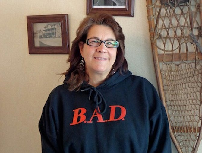 "Elizabeth ""Liz"" Cannan, Chairperson, B.A.D. (Be A Donor) and founder of the annual Snowshoe Softball Tournament for the National Kidney Foundation of Northeast New York."