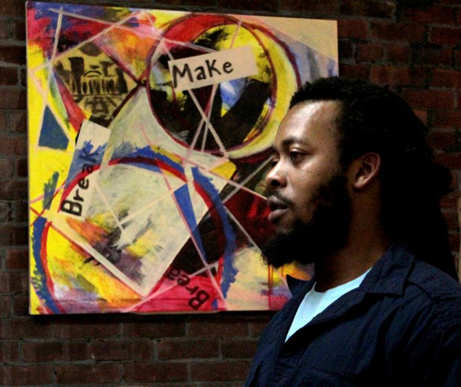 Local artist Gharan Burton's latest show, Artassination, is on display at ROTA Gallery in Plattsburgh through March 4.