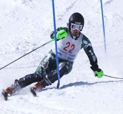 The Castleton State College men's ski team placed third in the Eastern Collegiate Ski Conference MacConnell Division and had four skiers earn All-Division honors as announced by the conference Feb. 20. (Photo by MAC)
