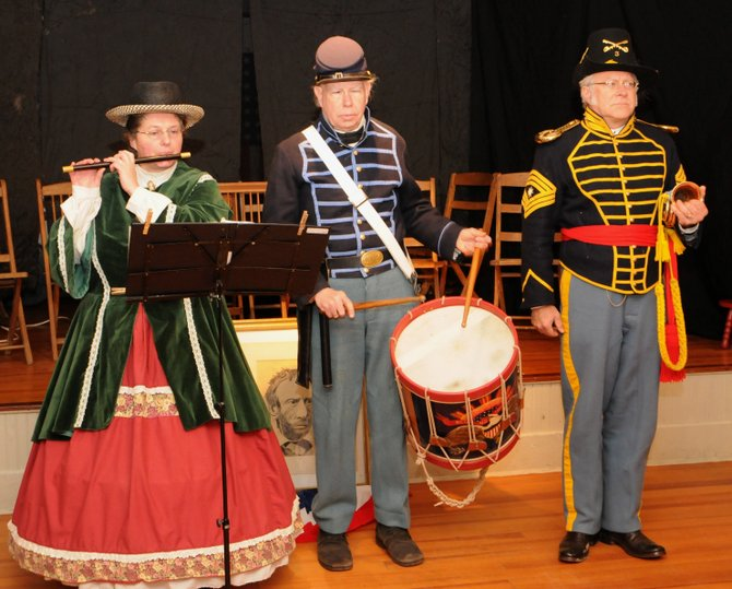 Bill Frueh, center, had been a member of the Village Volunteers Fife and Drum Corps of Delmar since graduating from high school. The Delmar native, who died Saturday, Feb. 9, will be remembered for his contributions to the re-enactment scene.