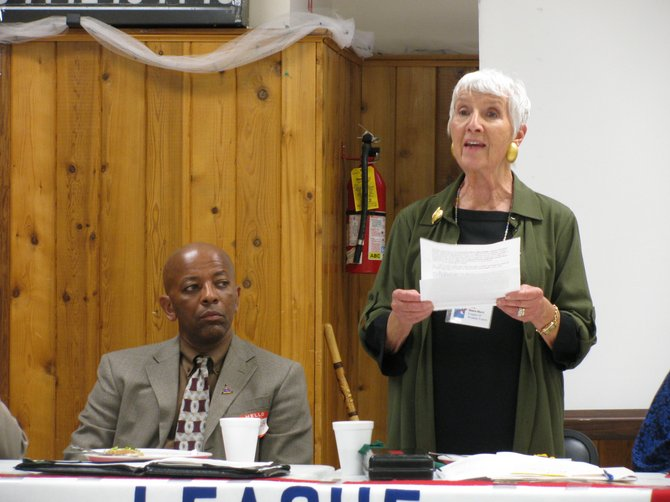 Plattsburgh League of Women Voters president Sally Sears-Mack.