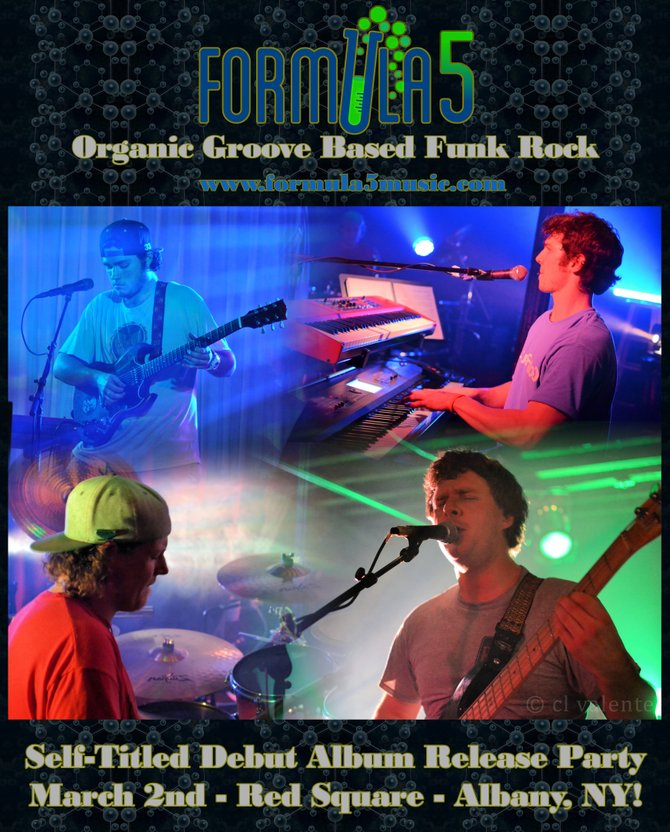 Formula 5 will perform at the Monopole in Plattsburgh Friday, March 1. The show will begin with Buffalo-based Funktional Flow at 10 p.m.