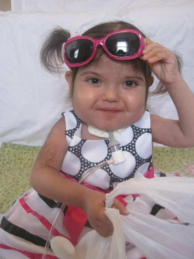 Rita Rizk, 4, died in September 2012. To keep her memory alive, her family set up a foundation to help other families in similar situations.