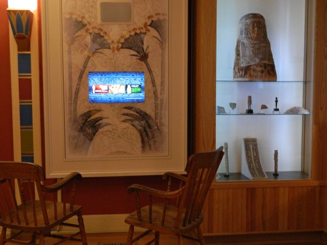 The Cazenovia Public Library's Egypt room offers visitors a chance to see not only it's mummy and numerous Egyptian artifacts collected by R.J Hubbard in the late 19th century, but also a video presentation of Hubbard's Egypt diary detailing where he traveled and how acquired the museum's artifacts.