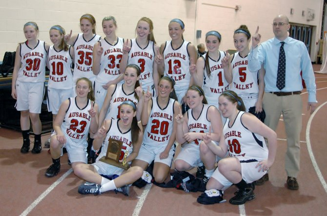 The AuSable Valley Lady Patriots, Section VII/Class C champions.