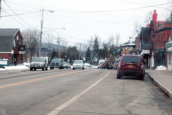 "Richard J. ""Joey"" Aubin led police on a high-speed chase through downtown Schroon Lake March 5, traveling northbound on State Route 9."