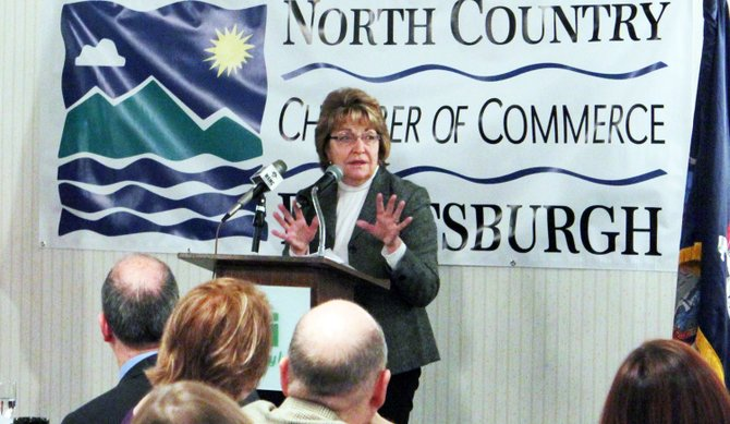 State Senator Betty Little spoke at the annual State Legislative Forum breakfast on Friday, March 1.