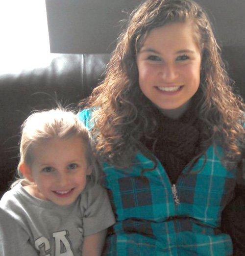 Riley Dutcher, left, and her aunt Brooke Terrier