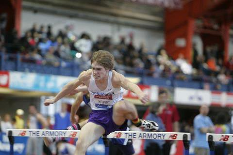 Jay Hebert of Ticonderoga finished eighth in the 60-meter hurdles at the New Balance Indoor Track & Field National Championships March 10 in New York City.