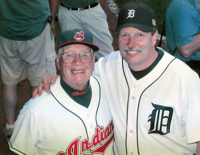 Steve Grilli, right, in a photo with Baseball Hall of Fame pitcher Bob Feller, who passed away in December 2010. Grilli, along with Liverpool native Greg Erardi, are two of more than 1,400 former Major League Baseball players seeking pensions from the Players' Association denied to them because their careers finished before 1980, and the Collective Bargaining Agreement struck at that time did not make the pension retroactive.