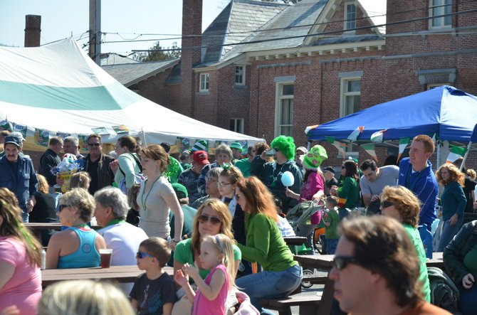 A substantial crowd gathered in 2012 to enjoy the activities at Lake George's 'Sham Rock the Block 'event. This year's edition of the St. Patrick's Day celebration, to be held Saturday March 16 and Sunday March 17, features an expanded lineup of activities.