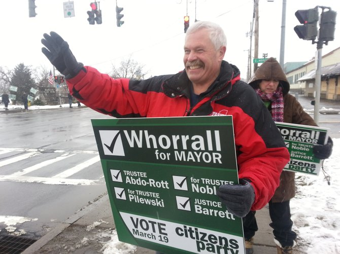 Paul Whorrall, was elected mayor of Manlius on Tuesday night, defeating Mark- Paul Serafin.