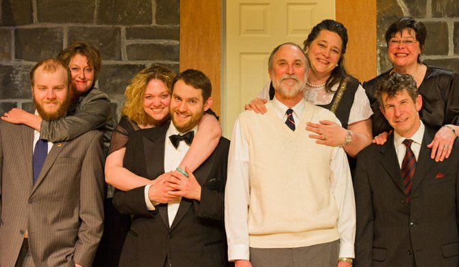 Our Town Theatre Group's cast of 'Rumors'
