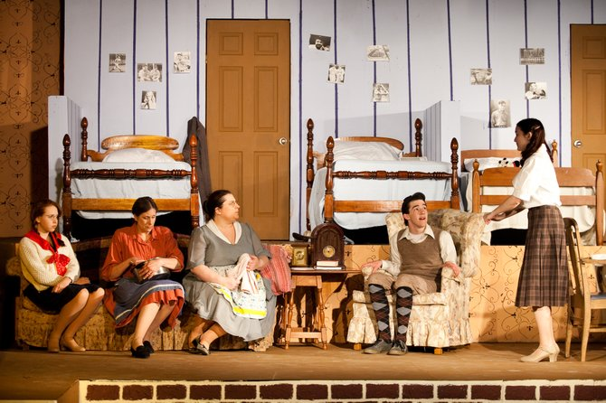 "Zoe Miller, Betsy York, Lesley Heisler, Josh Hintz and Erin Griffin appear in the Neil Simon's ""Brighton Beach Memoirs,"" now playing at the CNY  Playhouse at Shoppingtown Mall in DeWitt, at 8 p.m. Thursday, Friday and Saturday, April 18, 19 and 20, at 2 p.m. Sunday, April 21; and again at 8 p.m. April 25, 26 and 27; cnyplayhouse.com."