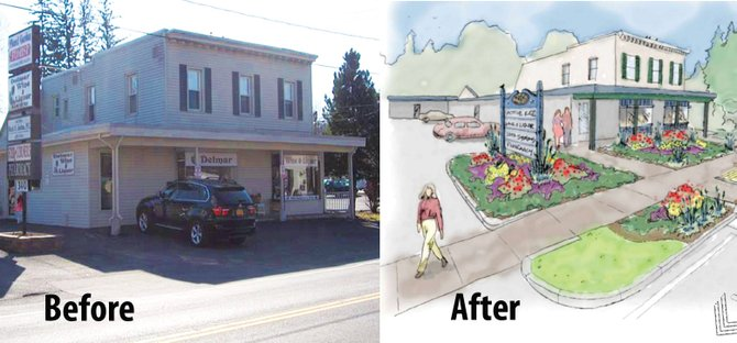 Example of 340 Delaware Ave. in Delmar before and after further improvements.