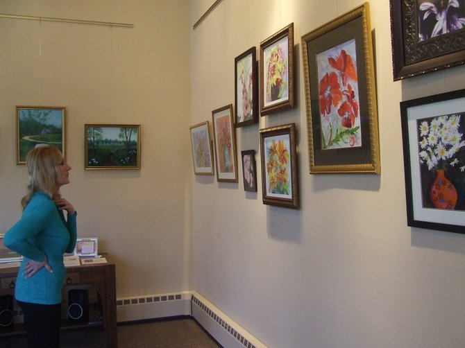 St. Agnes Cemetery Historian Kelly Grimaldi opens up The Living Room for local artists to display their work for 60 days right next to the cemetery's main office.