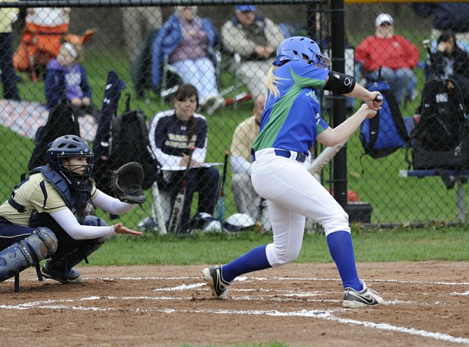 Cicero-North Syracuse senior Sydney O'Hara hits a three-run home run in the top of the first inning of last Monday's game at West Genesee, sending the Northstars on its way to a 13-0 victory over the Wildcats. Tougher wins over Baldwinsville (2-1) and Liverpool (4-0) would follow later in the week, O'Hara striking out 30 batters in those two games.