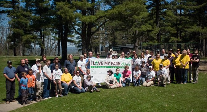 """More than 50 people volunteered at John Boyd Thacher State Park for """"I Love My Park Day"""" on Saturday, May 4, which had volunteers helping with projects throughout the park."""