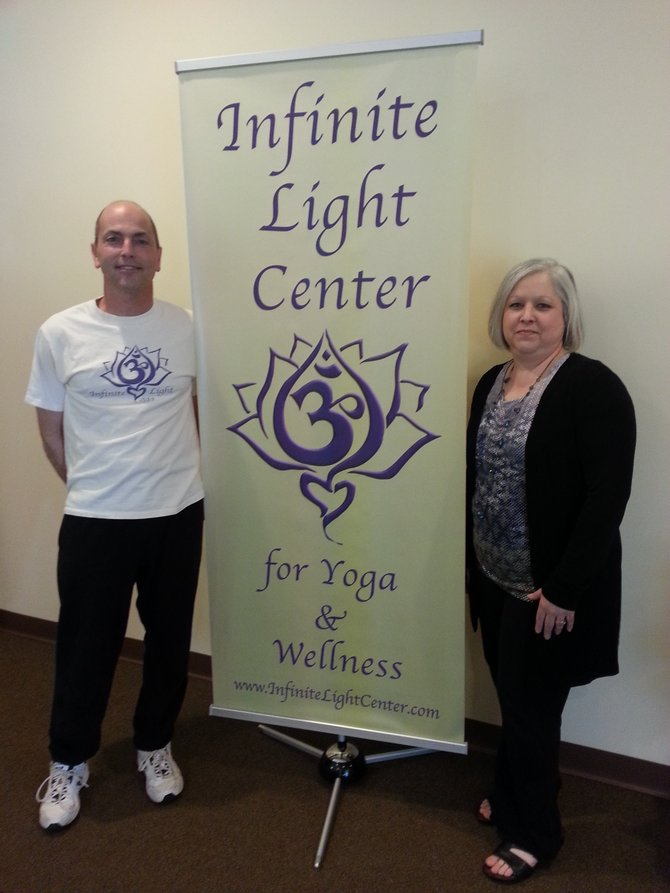 Tony and Mary Riposo opened Infinite Light in April to give their students and clients a concrete location to practice and learn to teach yoga, receive reiki and massages and learn about wellness.