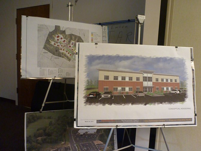 A rendering of the future tech building to house Breonics at 65 Vista Blvd. within the Vista Technology  Campus in Slingerlands.