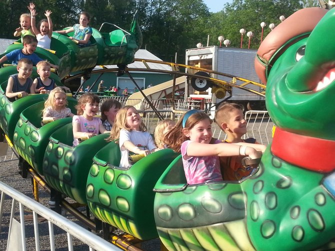 Local kids had a great time on the roller coaster at Minoa Field Days.