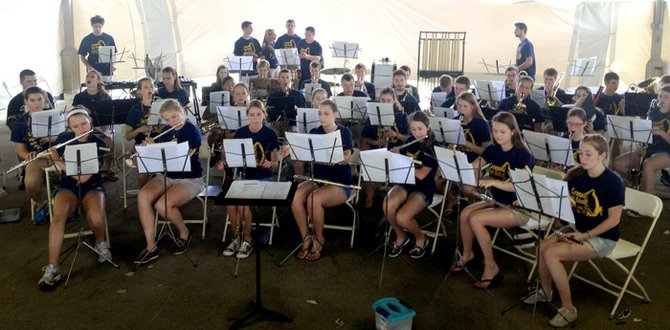 The Cazenovia High School Wind Ensemble performed June 1 at the Darien Lake Music Festival.