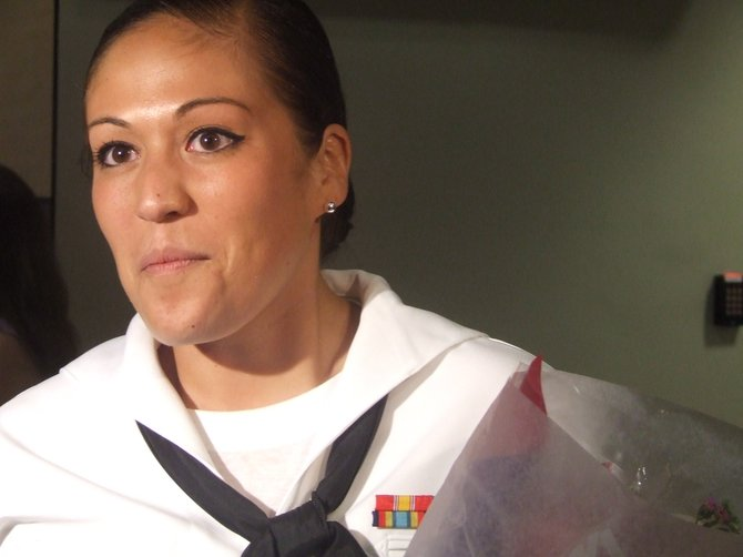 Colonie Central High School graduate Danielle Martinez went from local hairdresser to enrolling in the Navy.