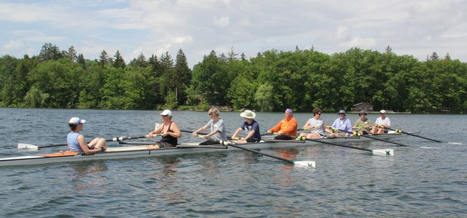 Prospective rowers joined experienced rowers from the Cazenovia Rowing Club on June 1 for a morning row in Gypsy Bay. New rowers participated in a three-hour workshop held as part of national Learn to Row day. Close to 40 new rowers attended the event.