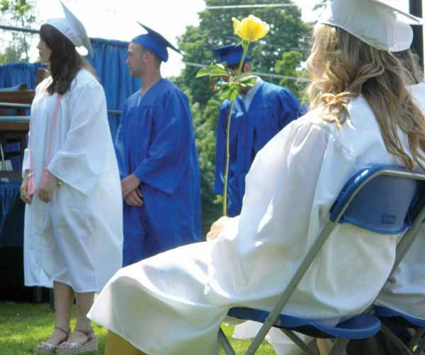 The Cazenovia High School Class of 2013 celebrated their commencement ceremony on Saturday, June 22, in the grass field in front of the middle school. More than 1,000 family, friends and local residents turned out to watch.