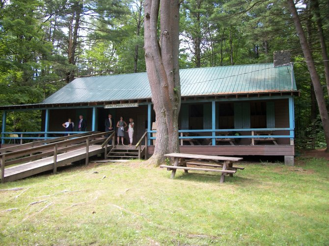 The spruced-up Waldman Lodge at Lawson Lake Park in Coeymans is ready to host summer campers.