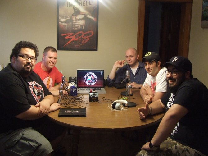 """The Brotherhood of Evil Geeks"" founders and contributors assemble together in an Albany apartment. The geek culture website hosts reviews and rants of comic books, video games, TV shows, movies and toys."