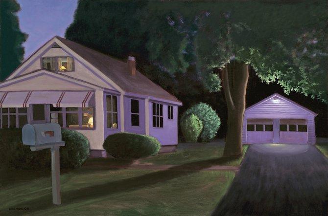 """Upstairs Downstairs,"" one of David Arsenault's paintings."