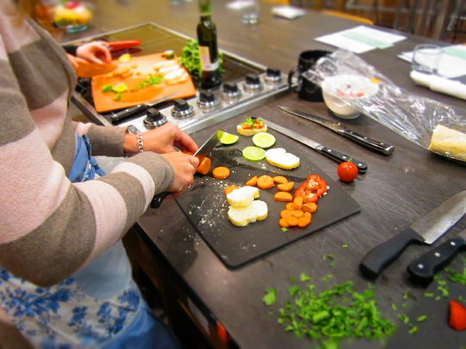Different Drummer's Kitchen, located in Stuyvesant Plaza, is featuring a scaled down version of its cooking classes during Guilderland Restaurant Week. People will be able to eat a three-course meal and learn an overview of how each course was made.