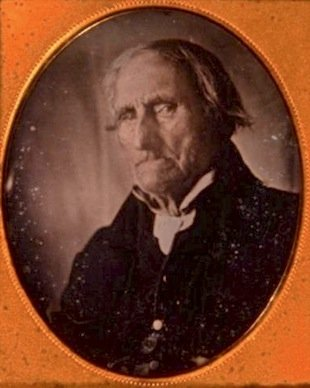 Conrad Heyer was born in 1749 and was 103 when he was photographed, He was the earliest born man in history to have been photographed. Heyer crossed the Delaware River with George Washington in 1776.