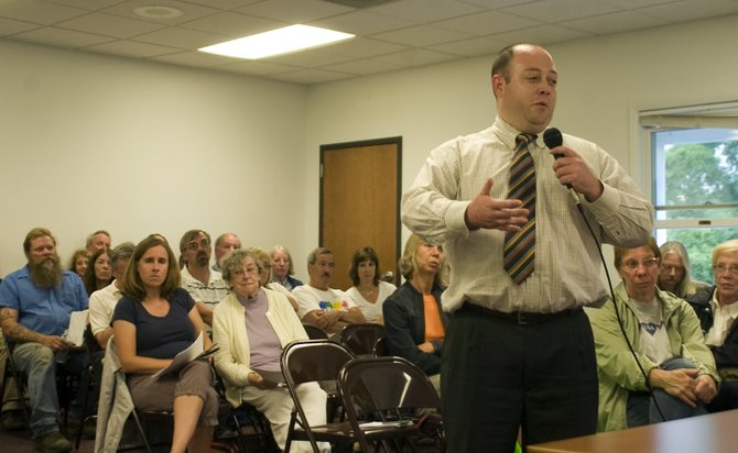 The public hearing on its draft master plan for Thacher and Thompson's Lake state parks was well attended Thursday, Aug. 1, at New Scotland Town Hall.