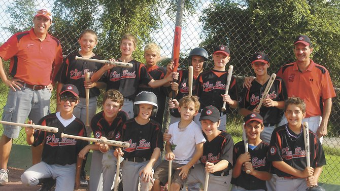 The Guilderland Nighthawks took first place at the Utica Wood Bat Tournament — one of three tournaments the Pine Bush Little League team participated in as they prepare for their trip to Cooperstown's Field of Dreams later this month. The players are Jonathan Ciccone, Christopher Ciccone, Jake Hernandez, Joe Saia, Joseph Harwood, Donny Chrysler, Zach Snyder, Luke Walter, Brian Cubello, Angelo Sbardella, Brenden Hoffman and Hunter Harris.