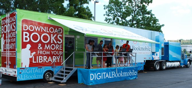 The Digital Book-mobile is stopping in the Capital District at William K. Sanford Town Library in Loudonville on Tuesday, Aug. 20. The vehicle helps introduce people to digital books and the devices used to read them.