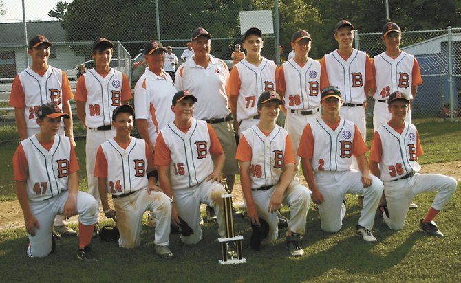 The Bethlehem Babe Ruth 15-year-old All-Stars won the All County Championship this year. The team is, from left, (front) James Gallagher, Liem Saunders, Tiarnan Barrett, Sean Moran, Steve Mendeslon and Eric DeYoe; and (back) Ben Gochee, Paul Hegeman, coach Clint Hegeman, manager Michael Coluccio, Keaton Lauricella, Alan Hegeman, Phil Scott and Nico Gargano-Kozlowski. not pictured: Brenden Coluccio.