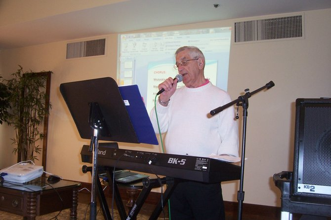 """Phil Wielewinski sings with """"Me, Myself and I."""""""
