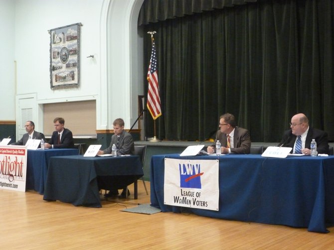 All four candidates for Bethlehem superintendent of highways met in a forum Thursday, Aug. 22.