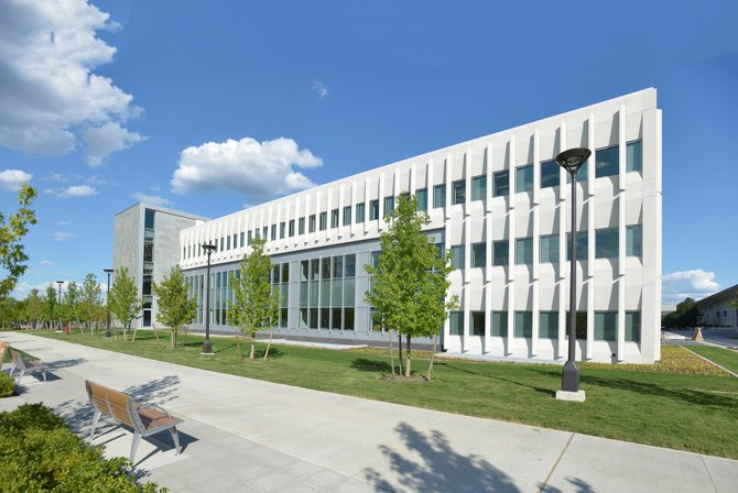 University at Albany officials unveiled a new 96,000-square-foot School of Business building equipped with technologically advanced classrooms and workspaces.